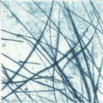 Gravure Joan Beall 2015 pointe sèche bleue
