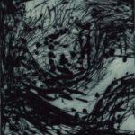 Algues pointe sèche 15x14cm 1994